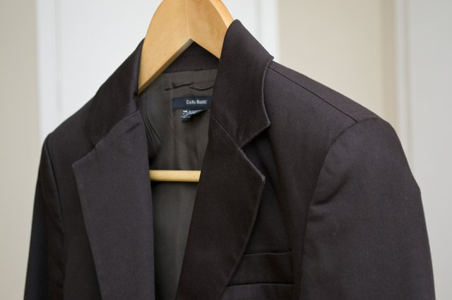 How to get rid of a sweat smell in a suit jacket hunker read the suits care tag to see whether you can use traditional laundering products on it if it says dry clean only use only mild cleaners with little or solutioingenieria Image collections