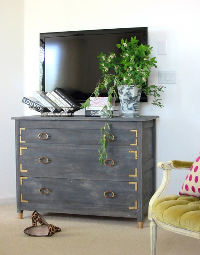 DIY weathered dresser