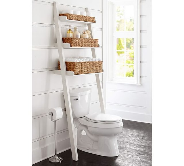 pottery barn toilet shelf