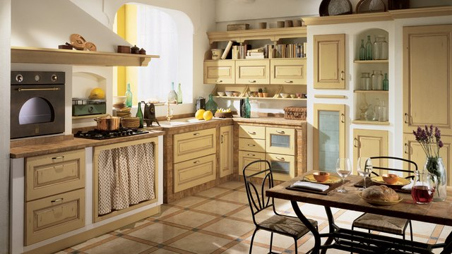 Mediterranean sea inspired kitchen