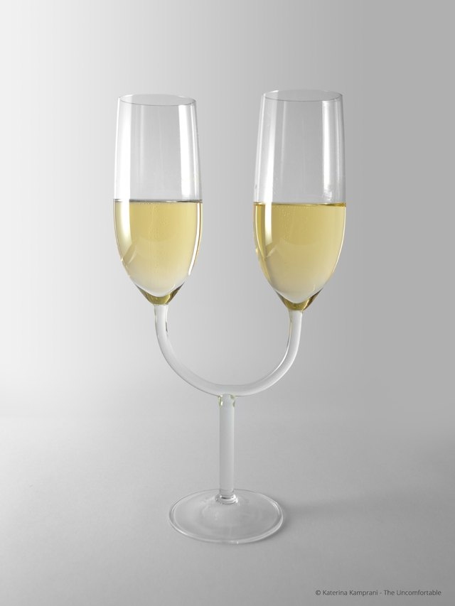 uncomfortable champagne flute