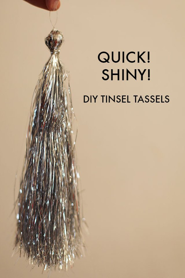 diy tinsel tassel
