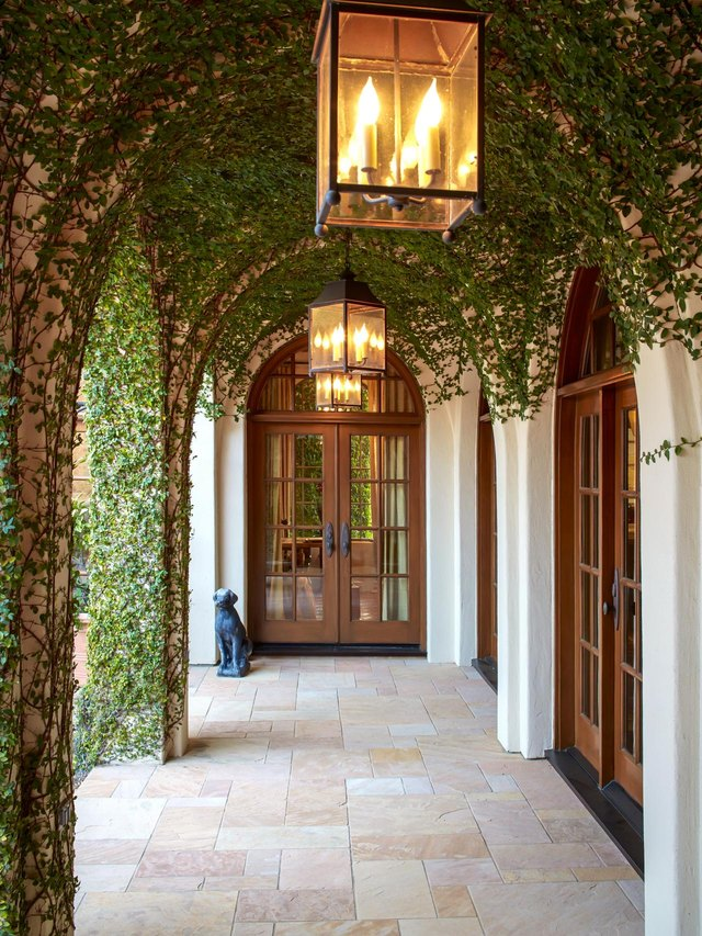 outdoor alcove covered in fig vines