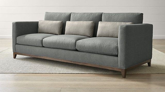 Sofa With Wood Base