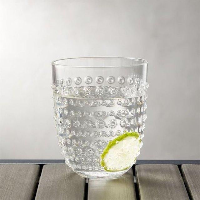 Dottie Clear Acrylic Drinking Glass