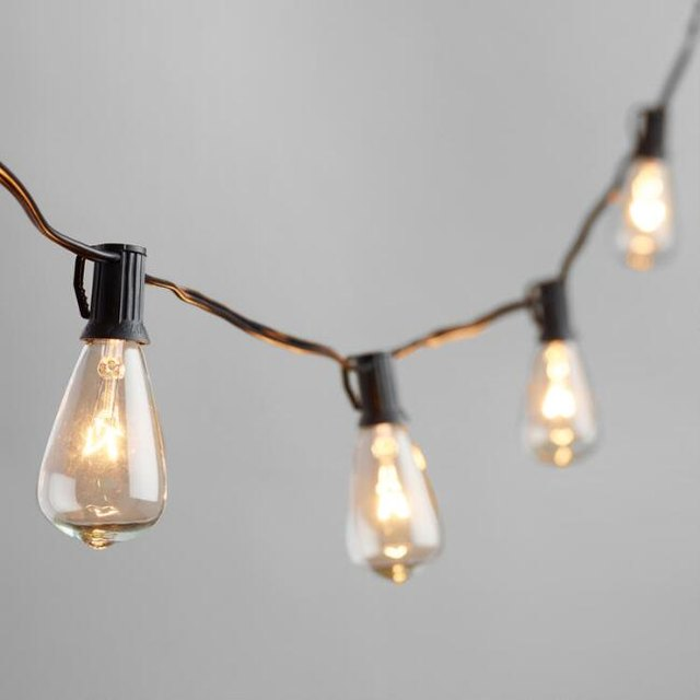 Edison bulb festoon lights