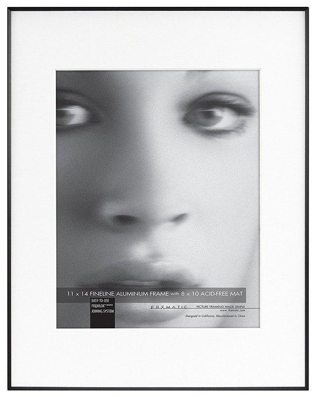 Photo frame with thin black border