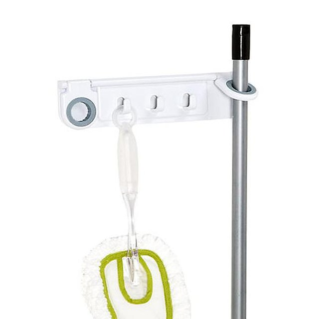 Durable hanging broom holder wall mounted
