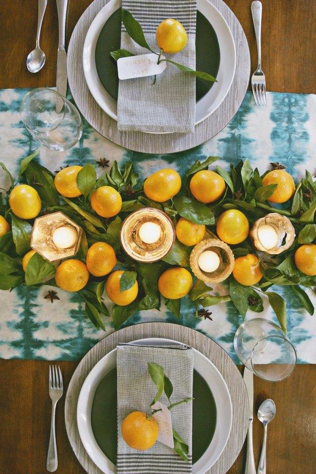 oranges thanksgiving centerpiece