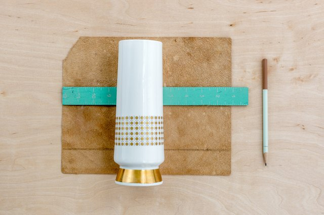 DIY leather handled vase: Step 1
