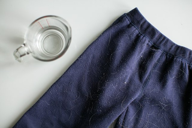Wash clothes in vinegar to minimize pet hair