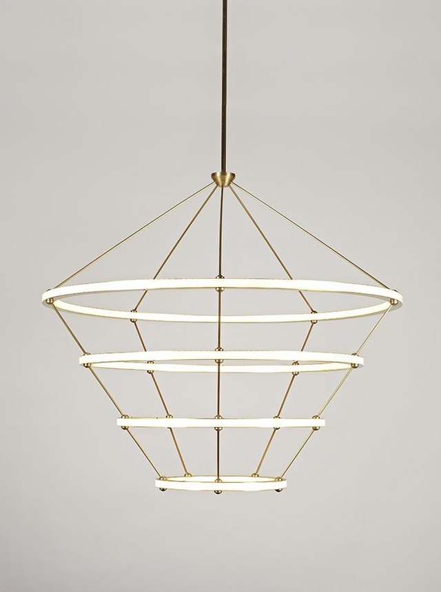 4-ring halo chandelier