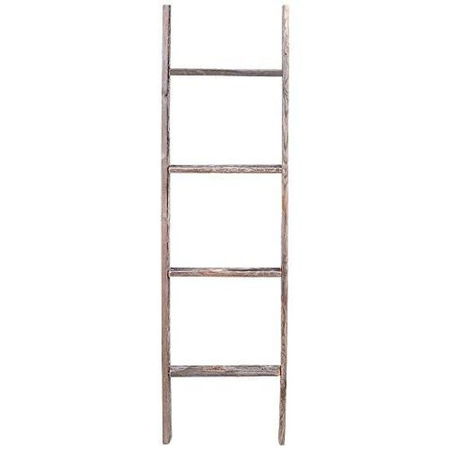 Reclaimed wood decorative ladder
