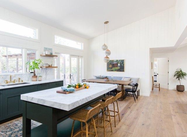 pendant light trio modern kitchen