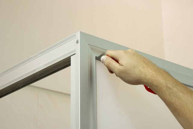 How to Paint a Shower Door Frame   Hunker