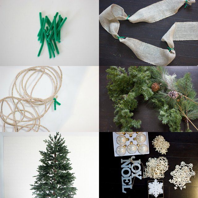 materials needed - How To Put Ribbon On A Christmas Tree