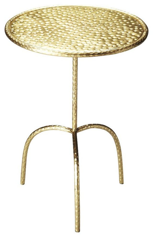 Founders Brass Finished Pedestal Table