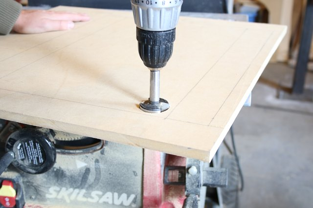 drilling a hole in the MDF board