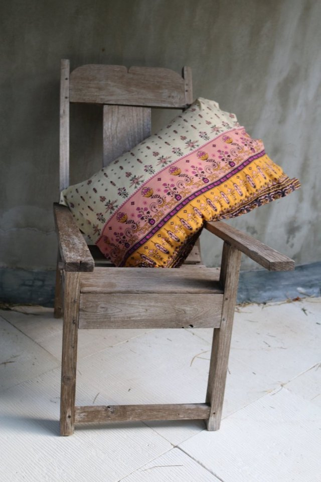 Colorful pillow slip