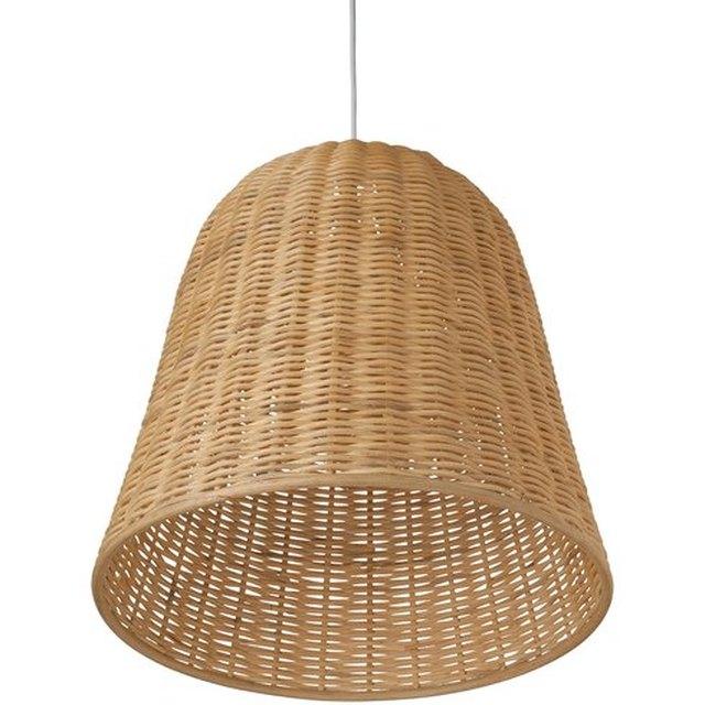 Wicker bell pendant light
