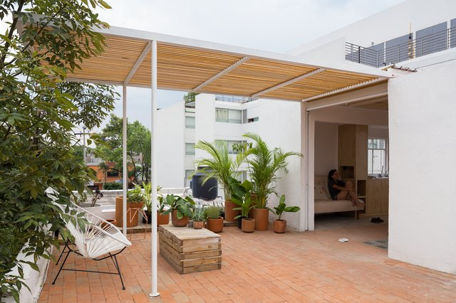 Covered terrace.