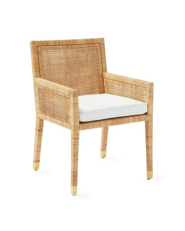 caned back armchair