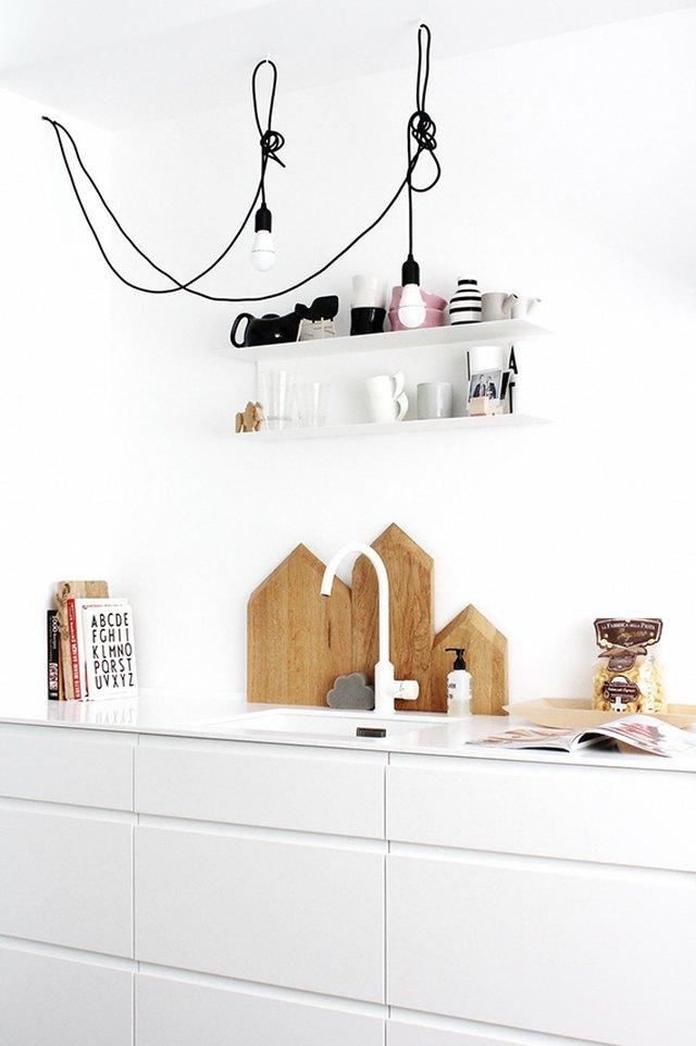 bare bulb cord kitchen light