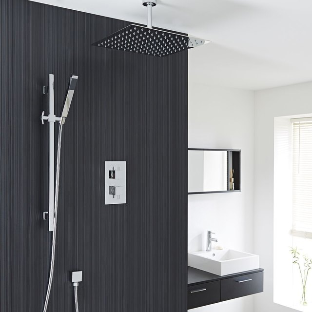 Shower Remodel Ideas Hudson Reed Astbury Twin Concealed Rain Shower Head
