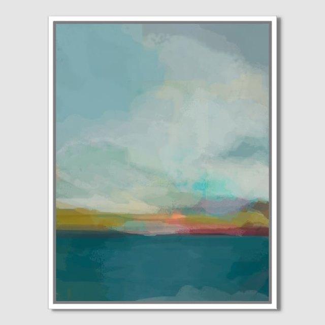 blue sky painting