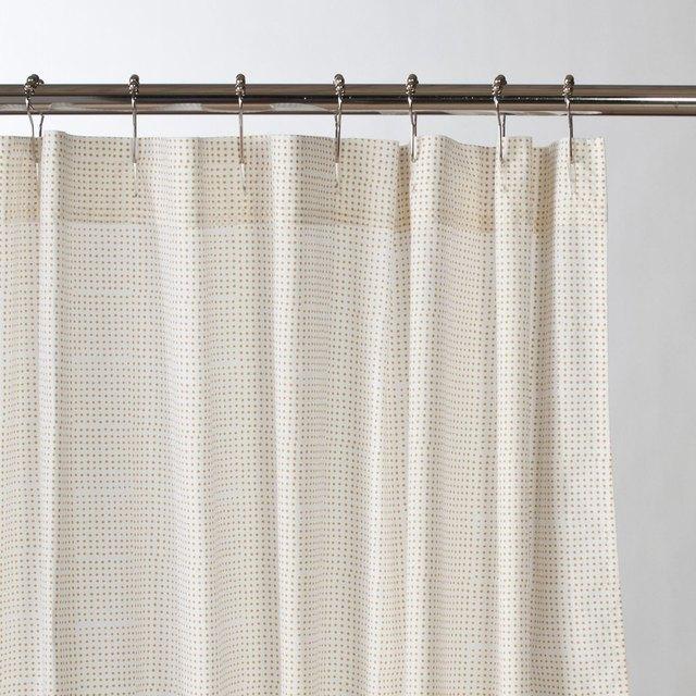 Yellow Dot Shower Curtain