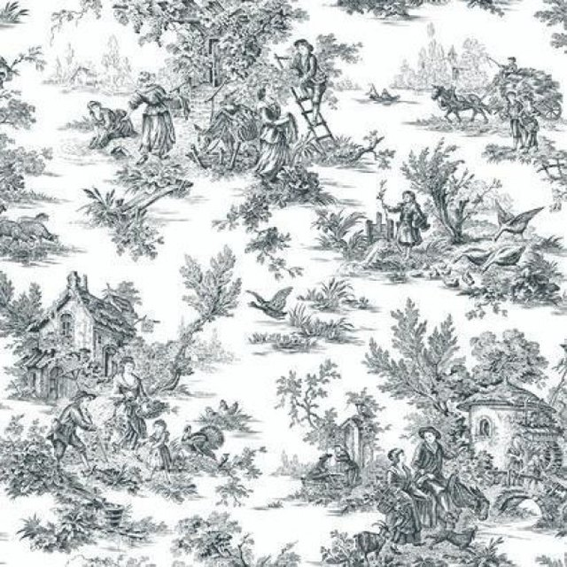 Swatch of patterned wallpaper