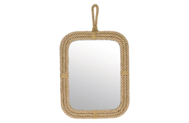 Mirror with rope border