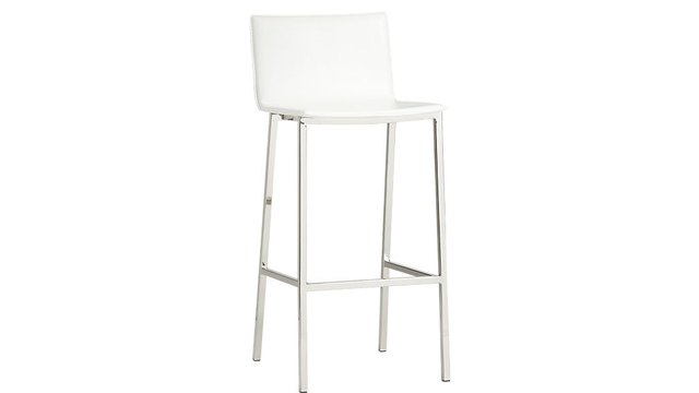 White bar stool