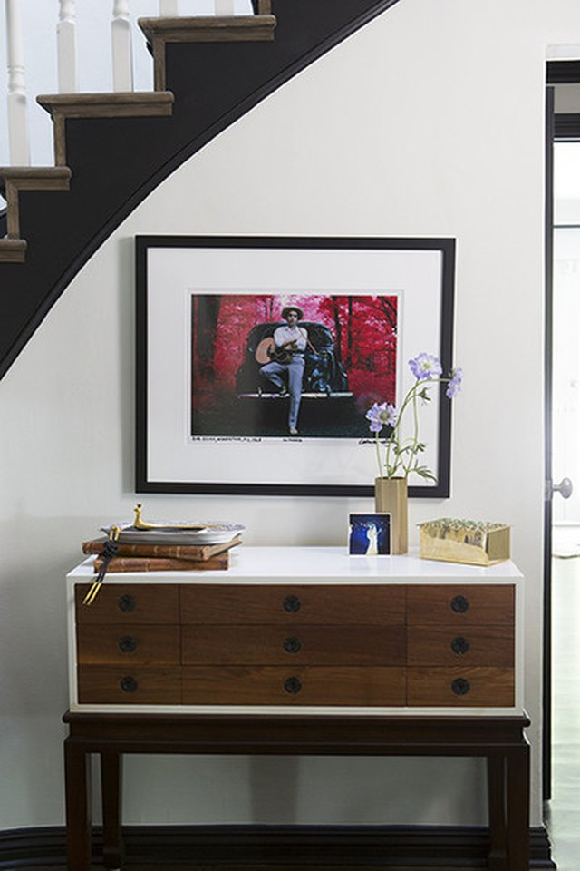 picture on staircase