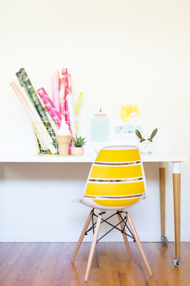 Peel and Stick Chair Makeover