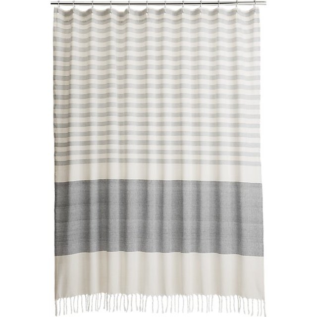 Cement Striped Shower Curtain
