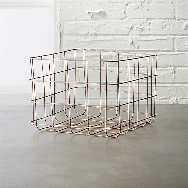 Copper Wire Storage Basket