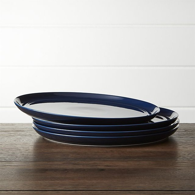 Crate and Barrel dinner plates.