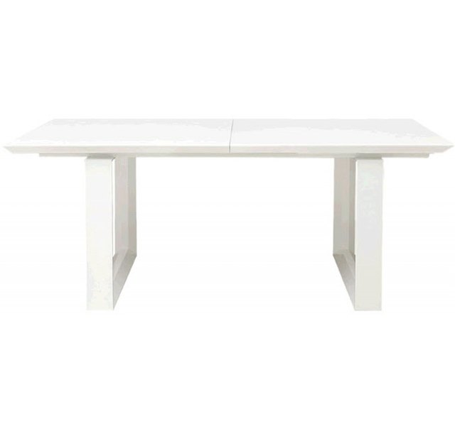 White lacquer rectangular dining table
