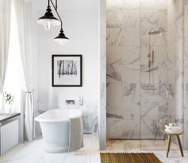 marble tile bathroom