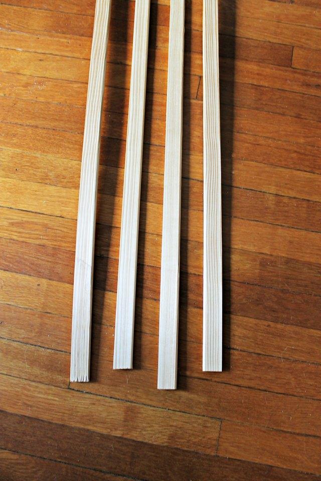 four pieces of trim