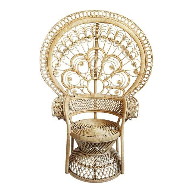 Chairish rattan peacock chair.