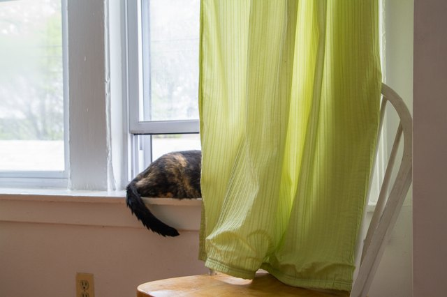 Creative ways to shorten long curtains hunker - Creative ways to hang curtains ...