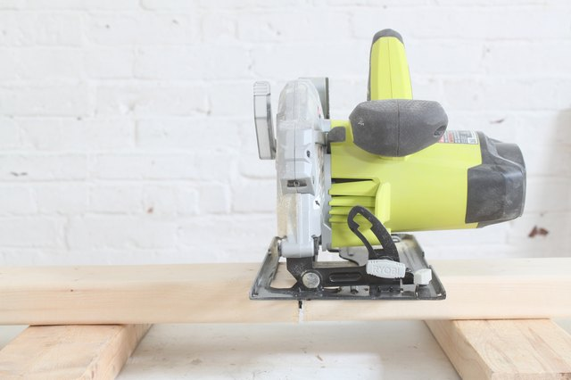 Making the cut with a circular saw