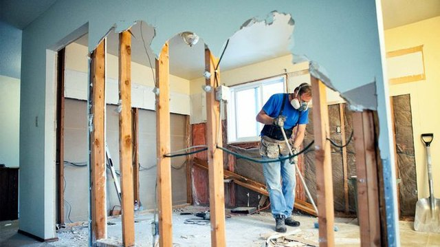structural interior home renovation project