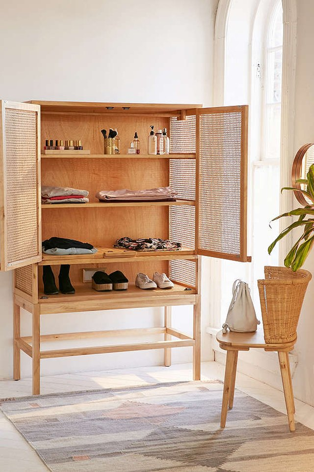 caned cabinet