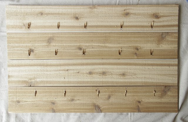 Planked bar top