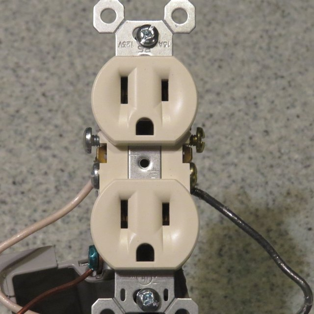 Receptacle with wires attached.