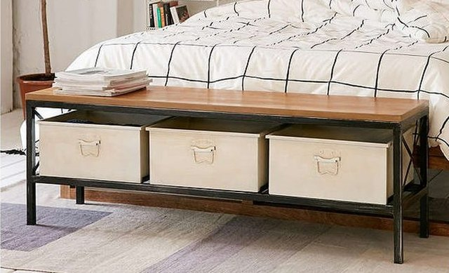 Storage bench organizer