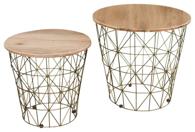 Pair of wire side tables